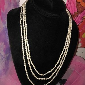 Triple Strand Vintage Rice Pearls